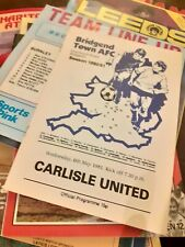 More details for 34 x carlisle united away programmes 1980's