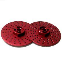 57823lr 1/10 RC M12 12mm roue en alliage adaptateurs avec frein à disque rouge 38mm x 2