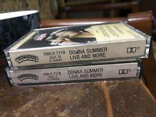 Donna Summer 1978 Original Live More Vol I-II Cassette Tapes Disco Music Dance