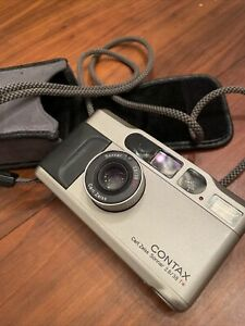 Contax T2 35mm Point & Shoot Camera Working Recently Cleaned Serviced Nippon NY
