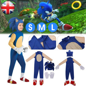 Kids Sonic The Hedgehog Jumpsuit Cosplay Boys Costume Fancy Dress Party Outfits