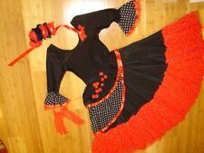 Day of the Dead black red dress sz S woman's costume Dia los Muertos Mardi Gras