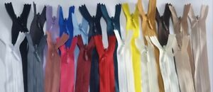 """Invisible Zip Concealed Nylon Zipper 22"""" (56cm) new colours added"""