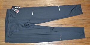 Fila Sport TruDry Men's Fitted Running Tights Pants DK GRAY Run Workout Pant