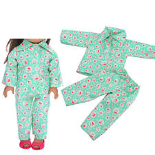 """Handmade Green Cheery Sleepwear Clothes Pants Set For All 18"""" Doll Clothe 2017."""