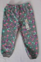 NEW Toddler Girls Jogger Pants Size 3T Fleece Floral Jogging Sweats Bottoms Cuff
