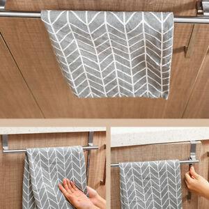 Over Kitchen Cabinet Door Tea Hand Towel Rail Holder Hanger Storage Rack Hot