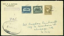 EDW1949SELL : NEWFOUNDLAND 3 Better values on 1928 Registered cover to USA.