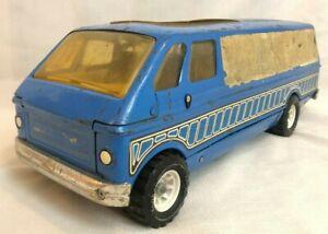 """Vintage Tonka Custom Van, Camper Motor Home, Blue, Sliding Side Door, 19"""""""