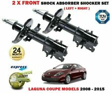 FOR RENAULT LAGUNA COUPE MODELS ONLY 2008-2015 NEW 2X FRONT SHOCK ABSORBERS SET