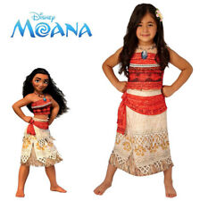 Moana Girls Costume Disney Deluxe Printed Dress Flower Hair Comb Island Licensed
