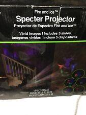 FIRE & ICE SPECTER HALLOWEEN PROJECTOR~5 SLIDES~NIB!