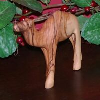 Holy Land Market Hand Carved Olive Wood Baby Camel - Matte Finish 4.5 inches