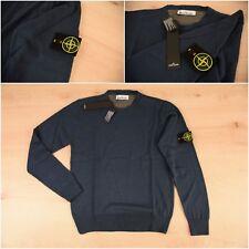 Stone Island Sweater Jumper Blue Crew Neck  2XL Genuine Mens New logo on arm