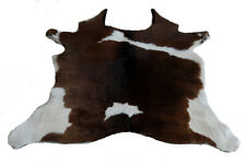 "Cowhide Rugs Calf Hide Cow Skin Rug (29""x33"")  Black Brown and White CH8066"