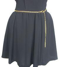 A New Skirt Dress Jeans  Adjustable Length Gold Tone Metal Body Chain Waist Belt