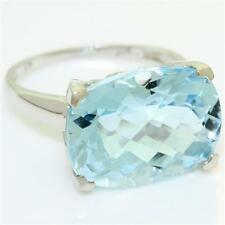 Premium 13.41ct Blue Topaz 9ct 9K Solid Gold Cocktail Ring - 30 Day Returns