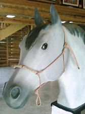 Rope Horse Training Halter w/Cobra Stitched Nose