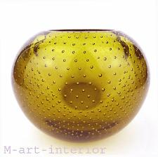 """WMF """"Perlora"""" Vase Kristall Glas mit Luftblasen Design Walter Dexel 1,3 kg"""
