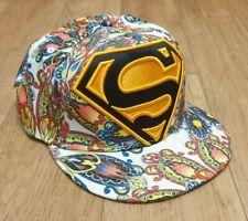 NEW ERA DC COMICS SUPERMAN PAISLEY SNAPBACK CAP ADJUSTABLE ONE SIZE FITS MOST