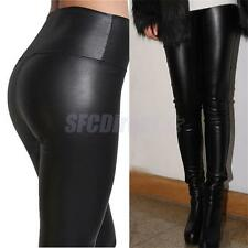 Women's Sexy High Waist Stretchy Faux Imitation PU Leather Leggings Pants