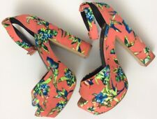 River Island Uk6 Eu39 Floral High Heel Platform Sandals Party Some Marks