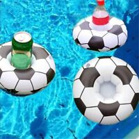 Lot of 24 Pieces - Novelty Soccer Ball Inflatable Drink Holder Pool Floaties