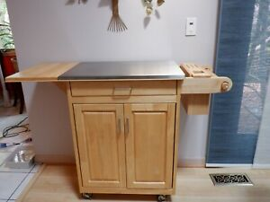 kitchen Island Trolley Cart Stainless Steel Top