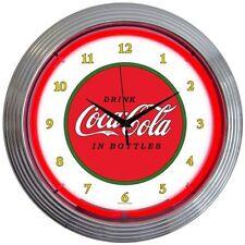 """Coca-Cola Classic 1910 Neon Clock sign Coke Fully Licensed 15"""" Neonetics 8CCCLA"""