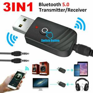 Mini Bluetooth 5.0 Audio Transmitter Receiver USB Adapter For TV PC Car Speaker