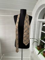 Men's Burberry London 100% Silk Beige Plaid Nova Check Necktie