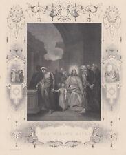 The widow's mite. L'offerta della vedova. Acquaforte 1830-1850