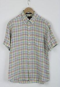 GANT LONG ISLAND Linen REGULAR FIT Men's L 100% Linen Short Sleeve Shirt 25765_S