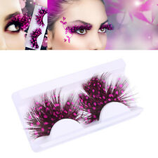 Long False Feather Eyelashes Makeup Eye Lashes Party Cosmetics Halloween Cosplay