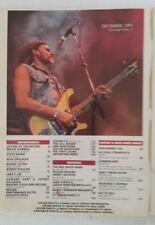 Guitar For The Practicing Musician December 1991 Rush Megadeth Metallica Crosby