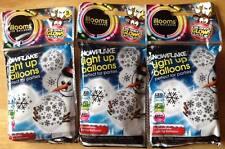 Illooms Light up 5 Snowflake Xmas Balloons LED Glow Party Birthday Decorations