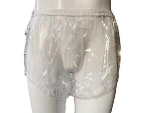 ADULT PLASTIC PANTS PVC incontinence #P004-9,Large