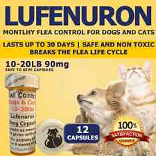 "Flea Control for Dogs/Cats 10-20lbs ""12"" 90mg Flea Control Capsules"