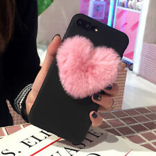 Black Lovely 3D Love Heart Cute Hair Phone Case Cover For iPhone 6S Plus