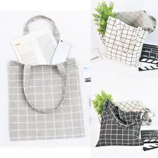Eco Shopping Cotton Linen Tote Handbag Canvas Purse Pouch Shoulder Away Bag