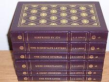 Easton Press C S LEWIS CLASSICS 6 vols Mere Christianity Screwtape great divorce