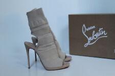 New sz 5 / 35.5 Christian Louboutin Cheminene Sock Beige Sandal Open Toe Shoes