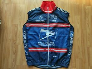 United States Postal Service Team Wind Vest Nike Armstrong  Size: L RARE ! NEW!