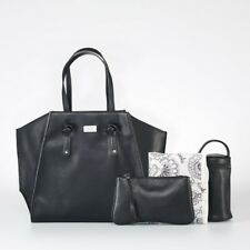 New Isoki Easy Access Tote Toorak Black Free Express Shipping