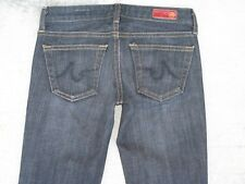 AG ADRIANO GOLDSCHMIED Club Jeans Low Flare w Stretch BLACK Distressed Sz 24
