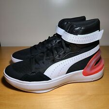 New Puma Hoops Basketball Sky Modern Black White Men Size 9 194042-04