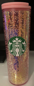 New Starbucks Holiday 2020 16oz Pink Multi Bubble Hot Tumbler Cup Christmas New