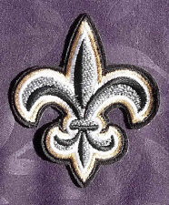 FLEUR DE LIS EMBROIDERED PATCH CROSS FRENCH FRANCE FRANCAIS CANADA PARIS DIY