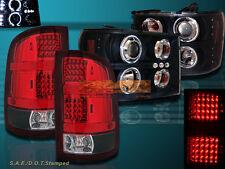 07-13 GMC Sierra 1500 2500HD CCFL Halo Projector Headlights Blk + Tail Lights