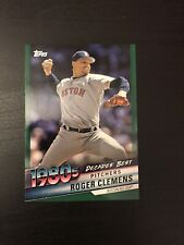 2020 Topps Series 2 Roger Clemens Decades Best Green Parallel DB-64 Red Sox